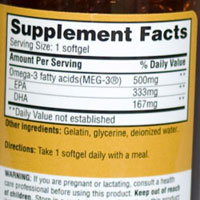 Weil nutritional supplements omega 3 complex review for Fish oil nutrition facts