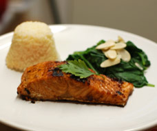 Japanese Pan Fried Salmon